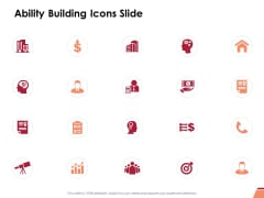 Ability Building Icons Slide Ppt PowerPoint Presentation Summary Influencers