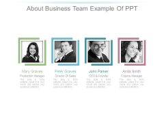 About Business Team Example Of Ppt