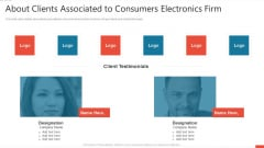 About Clients Associated To Consumers Electronics Firm Demonstration PDF
