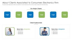 About Clients Associated To Consumers Electronics Firm Information PDF