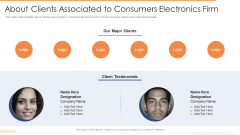 About Clients Associated To Consumers Electronics Firm Structure PDF