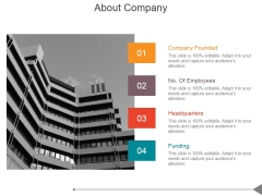 About Company Ppt PowerPoint Presentation Icon