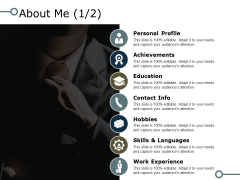 About Me 1 2 Company Details Ppt PowerPoint Presentation Infographic Template Designs Download