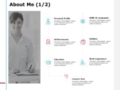 About Me Achievements Ppt PowerPoint Presentation Slides Gallery