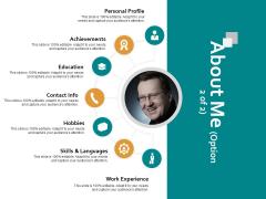 About Me Achievements Ppt PowerPoint Presentation Slides Outfit