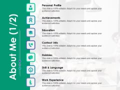 About Me Education Ppt PowerPoint Presentation Infographic Template Structure