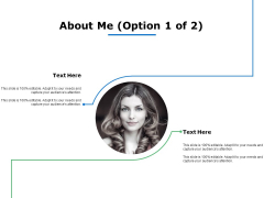 About Me Management Ppt Powerpoint Presentation Infographic Template Demonstration