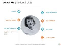 About Me Option Achievements Ppt PowerPoint Presentation Portfolio Shapes