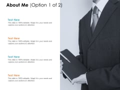About Me Option Ppt PowerPoint Presentation Infographics Icon