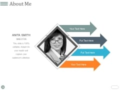 About Me Ppt PowerPoint Presentation Gallery Slides