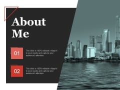 About Me Ppt PowerPoint Presentation Infographic Template Example Topics