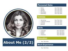 About Me Ppt PowerPoint Presentation Portfolio Files