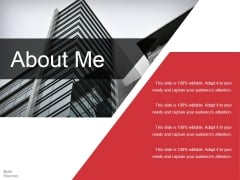 About Me Ppt PowerPoint Presentation Professional Slideshow