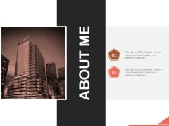 About Me Ppt PowerPoint Presentation Show
