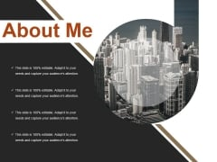 About Me Ppt PowerPoint Presentation Slides Model