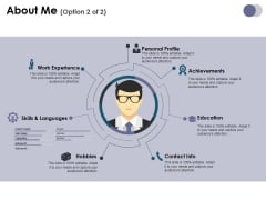 About Me Template 2 Ppt PowerPoint Presentation Ideas Portrait