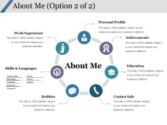 About Me Template 2 Ppt PowerPoint Presentation Visuals