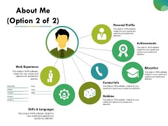 About Me Template Ppt PowerPoint Presentation Infographics Graphic Images