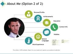About Me Template Ppt PowerPoint Presentation Styles Picture