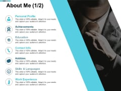 About Me Work Experience Ppt PowerPoint Presentation Outline Brochure