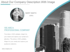 About Our Company Description With Image Ppt PowerPoint Presentation Ideas