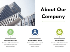 About Our Company Ppt PowerPoint Presentation File Graphics