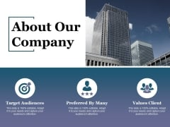 About Our Company Ppt PowerPoint Presentation Gallery Graphic Tips