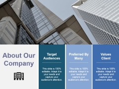 About Our Company Ppt PowerPoint Presentation Infographic Template Demonstration