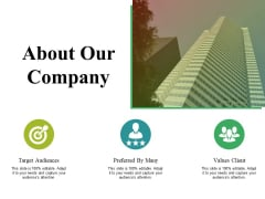 About Our Company Ppt PowerPoint Presentation Infographic Template Example Introduction