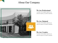 About Our Company Ppt PowerPoint Presentation Layouts Examples