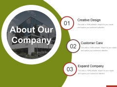 About Our Company Ppt PowerPoint Presentation Layouts File Formats