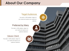 About Our Company Ppt Powerpoint Presentation Layouts Inspiration