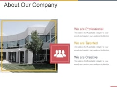 About Our Company Ppt PowerPoint Presentation Pictures Good