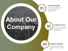 About Our Company Ppt PowerPoint Presentation Styles Ideas
