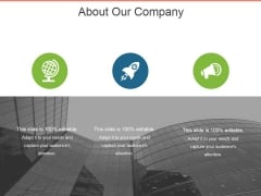 About Our Company Template 1 Ppt PowerPoint Presentation Ideas Layout