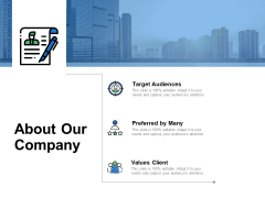 About Our Company Values Client Ppt PowerPoint Presentation Portfolio Visual Aids
