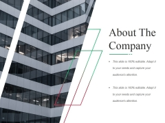 About The Company Ppt PowerPoint Presentation Styles Slides
