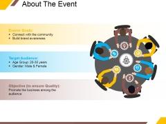 About The Event Ppt PowerPoint Presentation File Portrait