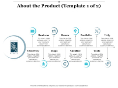 About The Product Business Ppt PowerPoint Presentation Portfolio Introduction