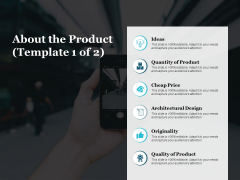 About The Product Originality Ppt PowerPoint Presentation Pictures Outline