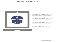 About The Product Ppt PowerPoint Presentation Deck