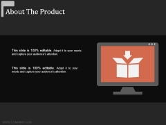 About The Product Ppt Powerpoint Presentation Pictures Deck
