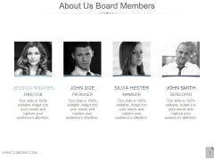 About Us Board Members Ppt PowerPoint Presentation Templates