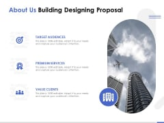 About Us Building Designing Proposal Ppt PowerPoint Presentation Summary Vector