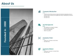 About Us Company Introduction Ppt PowerPoint Presentation Ideas Rules