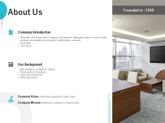 About Us Company Introduction Ppt PowerPoint Presentation Infographic Template Inspiration