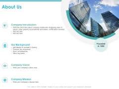 About Us Company Introduction Ppt PowerPoint Presentation Model Graphics Tutorials