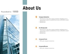 About Us Company Introduction Ppt PowerPoint Presentation Professional Example File