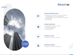About Us Company Mission Ppt PowerPoint Presentation File Sample