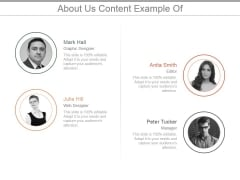 About Us Content Ppt PowerPoint Presentation Samples